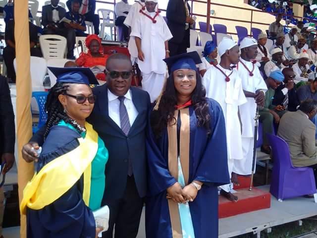 Former Dep. Governor Efiok Cobham celebrates with wife and Dr. Chioma Gershom Bassey