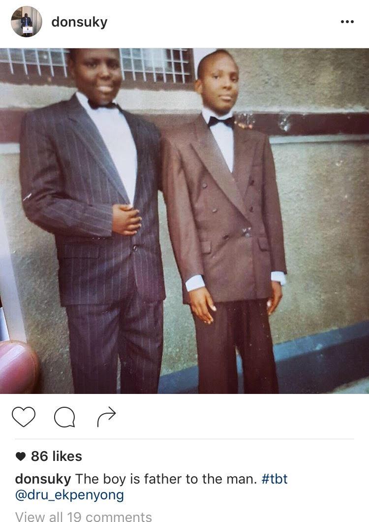Asuquo Ekpeyong throwback photo 1