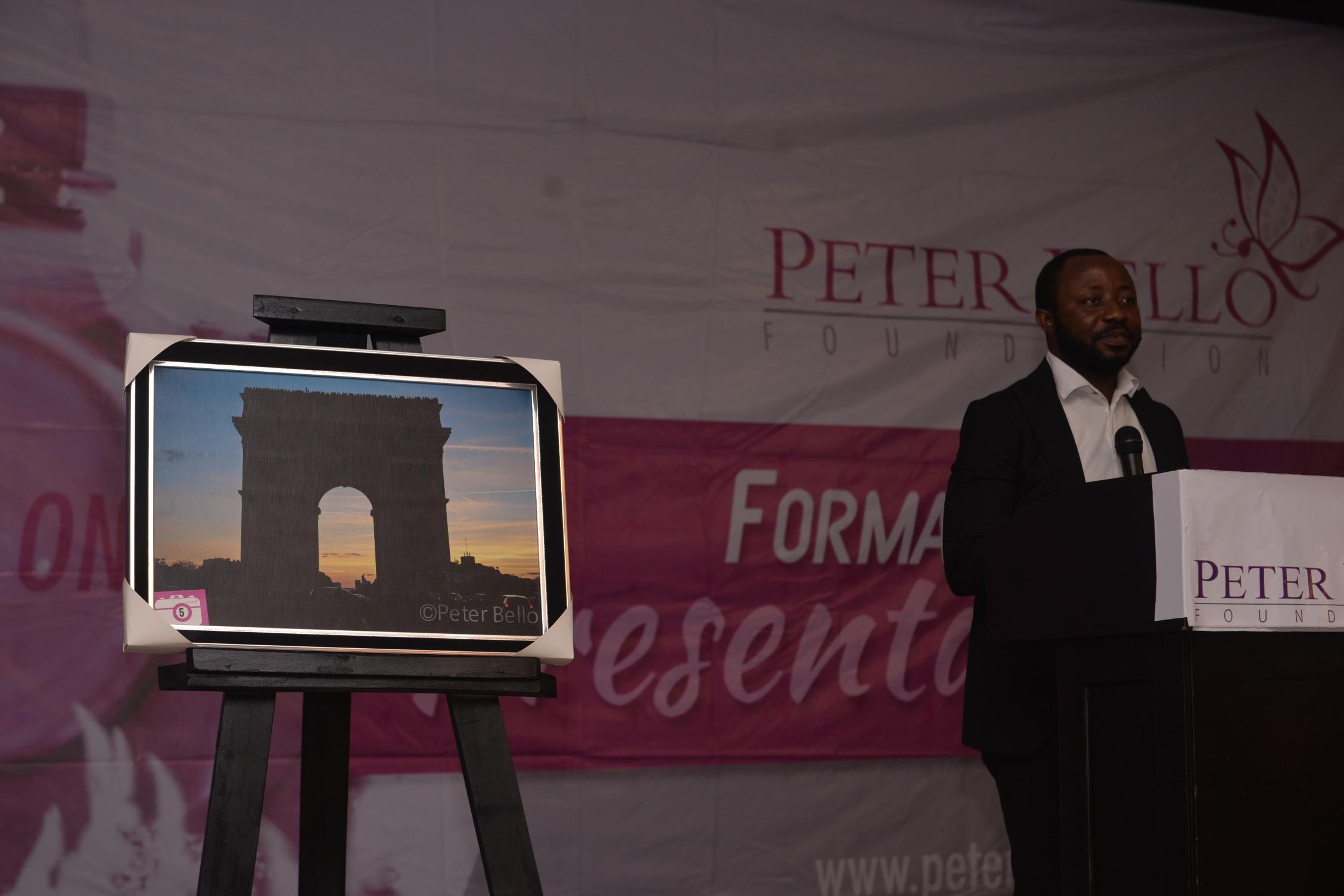 Mr. Kola Oshalusi facilitating the exhibition