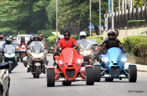 Gov. Ayade leads bikers dry run