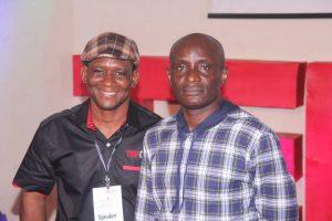 Speaker, CRSHA, Rt. Hon. John Gaul Lebo with The Curator, TEDx Calabar, Mr. Bryce Edem
