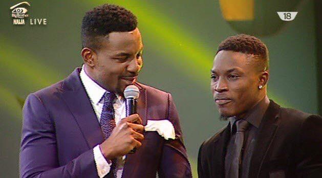 Bassey Ekpenyong and Ebuka Obi during the live show