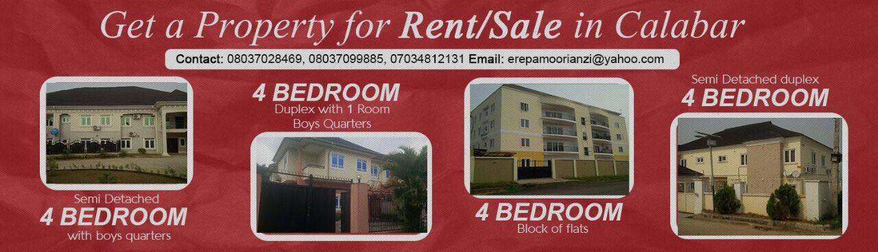 Rent/Sale Properties in Calabar