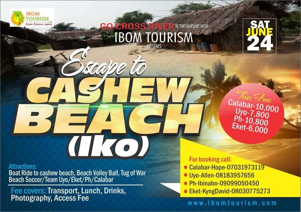 UPCOMING TOUR: A DAY TRIP TO CASHEW BEACH (IKO)